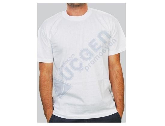 Hediye 2.Kalite %100 Pamuk Bisiklet Yaka Penye T-shirt Tişört