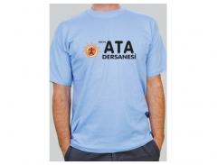 Promosyon 1.Kalite %100 Pamuk Dikişli Bisiklet Yaka Penye T-shirt Tişört