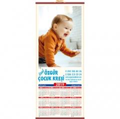 Bebek Resimli Hasır Takvimi H-28