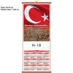 Ankara Çanakkale Ay yıldız Dönmeyi Düşünmediler Hasır Takvimi H-19