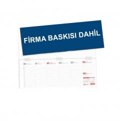 Ankara G11 Spiralli Masa Takvimi (Firma Reklam Baskısı)