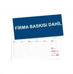 Ankara G12 Spiralli Masa Takvimi (Firma Reklam Baskısı)