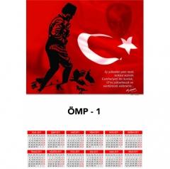 Promosyon ÖMP-1 Poster Takvim