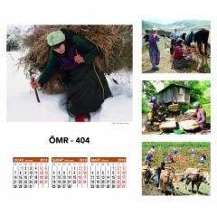 Promosyon ÖMR-404 Dört Yapraklı Kuşe Takvim