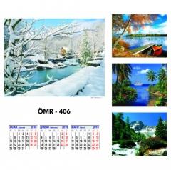 Promosyon ÖMR-406 Dört Yapraklı Kuşe Takvim