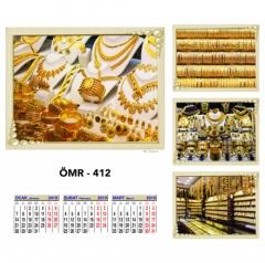 Promosyon ÖMR-412 Dört Yapraklı Kuşe Takvim