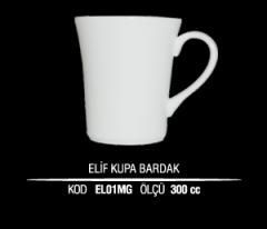 Porselen Elif Kupa Bardak EL01MG (Seramik Değildir)