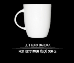 Porselen Elit Kupa Bardak ELT01MUG (Seramik Değildir)