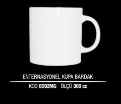 Porselen Enternasyonel Kupa Bardak EO02MG (Seramik Değildir)