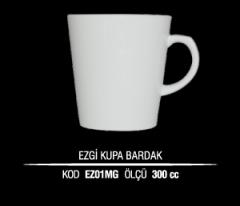 Porselen Ezgi Kupa Bardak EZ01MG (Seramik Değildir)