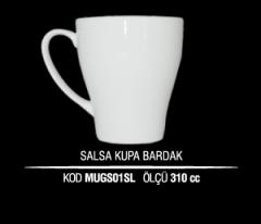 Porselen Salsa Kupa Bardak MUGS01SL (Seramik Değildir)