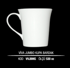 Porselen Viva Jumbo Kupa Bardak VVJBMG (Seramik Değildir)