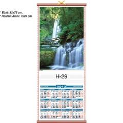 Şelale Manzaralı Hasır Takvimi H-29