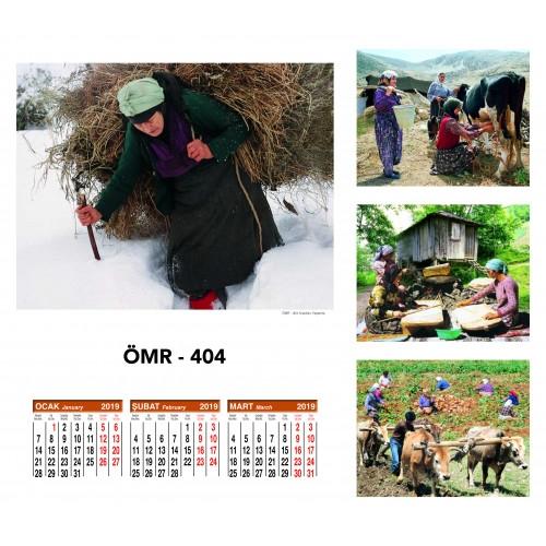 Hediye ÖMR-404 Dört Yapraklı Kuşe Takvim