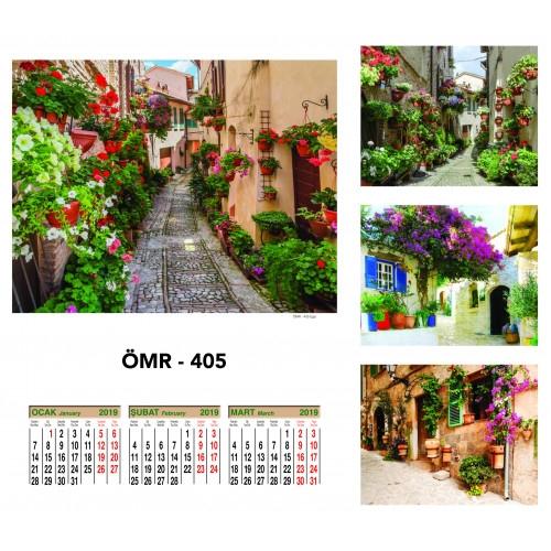 Hediye ÖMR-405 Dört Yapraklı Kuşe Takvim