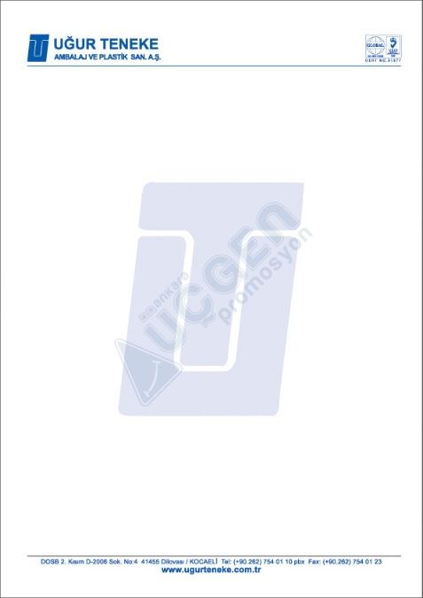 Hediye A-4 Boy Antetli Kağıt 80 gr. 1 hamur ( 4 Renk Baskı )
